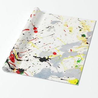 Peignez l'éclaboussure papier cadeau