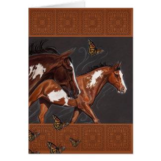 Peignez les chevaux avec la croyance sans limites cartes