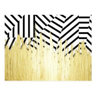 Peignez les courses en or de Faux sur la rayure Carte Postale
