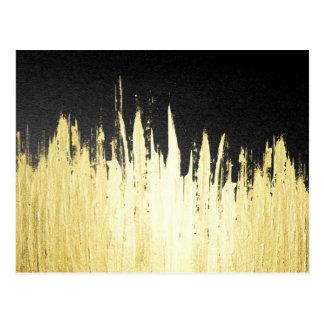 Peignez les courses en or de Faux sur le noir Carte Postale