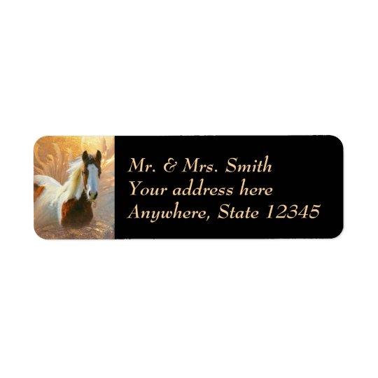 Peignez les étiquettes de adresse de retour d'or