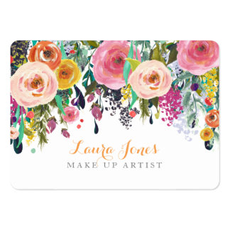 Peint floral composez les cartes de rendez-vous carte de visite grand format