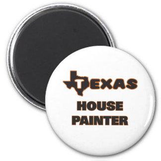 Peintre de Chambre du Texas Magnet Rond 8 Cm