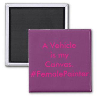 Peintre de voiture de réparation de véhicule magnet carré