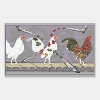 Peintre de volaille sticker rectangulaire