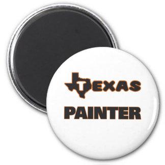 Peintre du Texas Magnet Rond 8 Cm