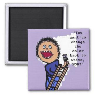 Peintre personnalisé magnet carré