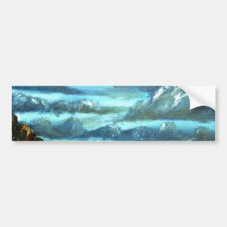 peinture à l'huile abstraite de paysage marin de c autocollant pour voiture