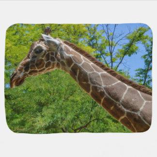 Peinture à l'huile de girafe couverture pour bébé