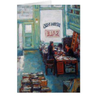 """Peinture à l'huile """"de vente de livres d'Eureka"""" Cartes De Vœux"""