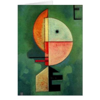 Peinture abstraite ascendante de Kandinsky Carte De Vœux