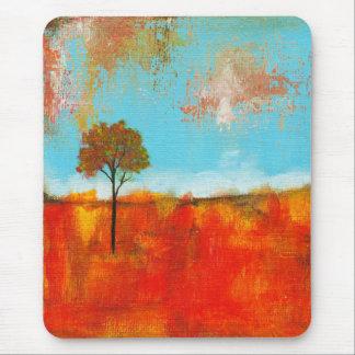 Peinture abstraite d'art d'arbre de paysage tapis de souris