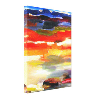 Peinture abstraite moderne d'art de paysage toiles