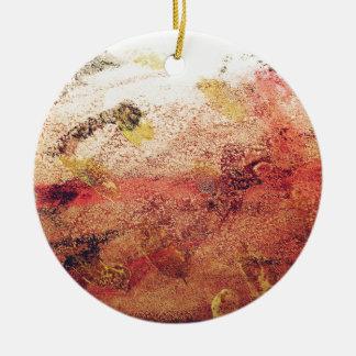 Peinture abstraite ornement rond en céramique