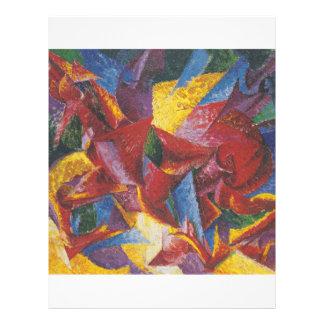 Peinture abstraite par Umberto Boccioni Prospectus En Couleur