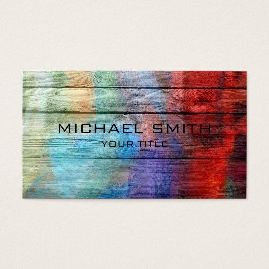 Peinture acrylique color e sur le bois cartes de visite zazzle - Peinture acrylique sur bois ...