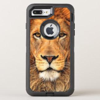 Peinture acrylique de beau Faux d'un lion Coque Otterbox Defender Pour iPhone 7 Plus