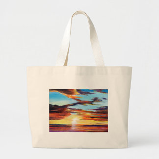 Peinture acrylique de coucher du soleil grand sac