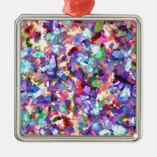 Peinture avec la couleur ornement carré argenté