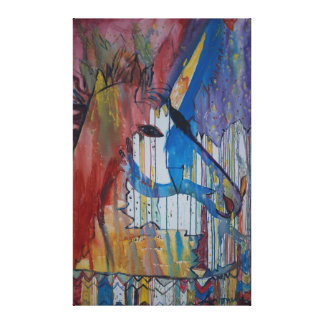 Peinture bruinée de licorne par Avonelle Kelsey Impressions Sur Toile