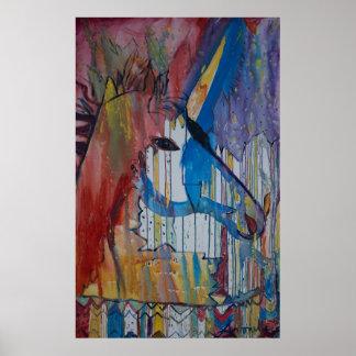 Peinture bruinée de licorne par Avonelle Kelsey Posters