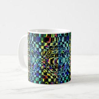 Peinture carrée transparente multidimensionnelle mug