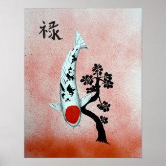 Posters carpe koi carpe koi affiches art carpe koi for Carpe chinoise prix
