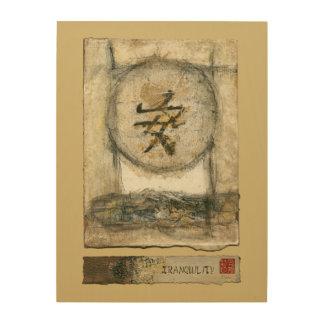 Peinture chinoise de tranquilité par Mauro Impression Sur Bois