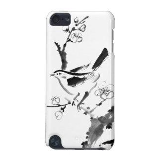 Peinture chinoise, fleur de prune et oiseau coque iPod touch 5G
