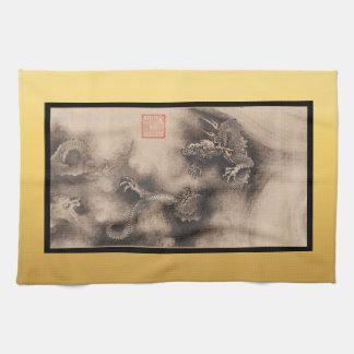 Peinture chinoise pour la serviette 2024 de serviettes pour les mains