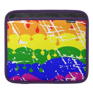 Peinture d égoutture d arc-en-ciel affligée poches pour iPad