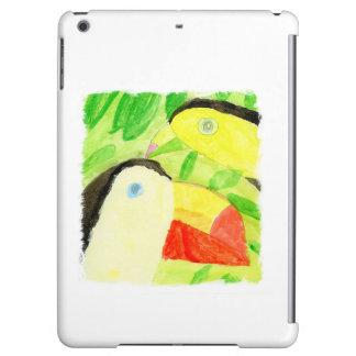 Peinture d'aquarelle avec des couples d'oiseau de