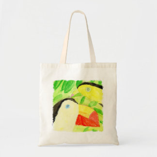 Peinture d'aquarelle avec des couples d'oiseau de sac