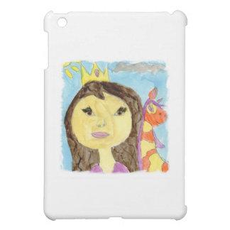 Peinture d'aquarelle avec la princesse et la étui iPad mini