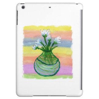 Peinture d'aquarelle avec le pot de fleurs