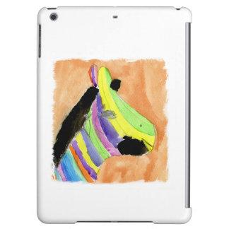 Peinture d'aquarelle avec le zèbre d'arc-en-ciel