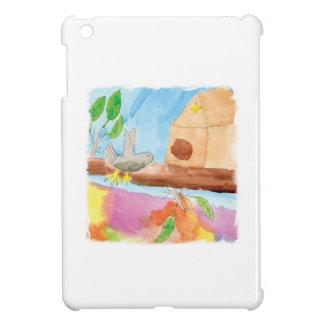 Peinture d'aquarelle avec l'oiseau en nature coque pour iPad mini