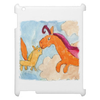 Peinture d'aquarelle avec Pegasus et le sien Coques iPad