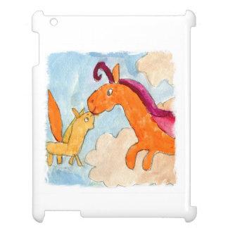 Peinture d'aquarelle avec Pegasus et le sien Étui iPad