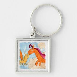 Peinture d'aquarelle avec Pegasus et le sien Porte-clés