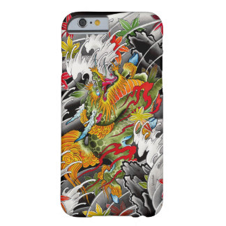 Peinture d'aquarelle d'art de tatouage de Japonais Coque Barely There iPhone 6