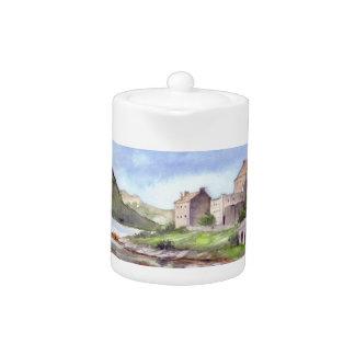 Peinture d'aquarelle de château d'Eilean Donan