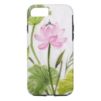 Peinture d'aquarelle de la fleur de Lotus 2 Coque iPhone 7