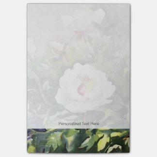 Peinture d'aquarelle des belles fleurs notes post-it