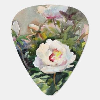 Peinture d'aquarelle des belles fleurs onglet de guitare