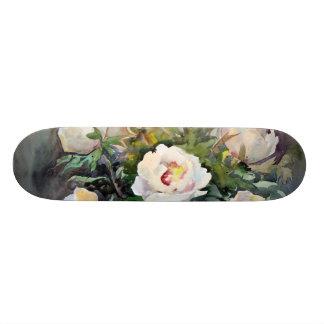 Peinture d'aquarelle des belles fleurs skateboards cutomisables
