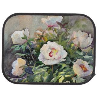 Peinture d'aquarelle des belles fleurs tapis de voiture