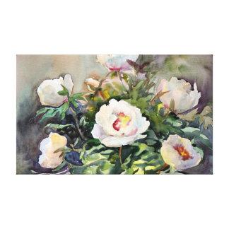 Peinture d'aquarelle des belles fleurs toiles tendues