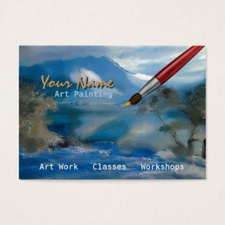 Peinture d'art - affaires, carte de profil