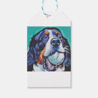 Peinture d'art de bruit de chien de montagne de étiquettes-cadeau
